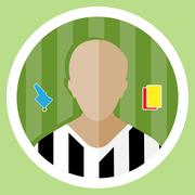 Soccer Referee Icon Stock Illustration