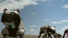 Robot panthers Stock Footage