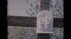 1966: huge wooden cross with some sculptures in the graveyard CLARKSDALE Stock Footage