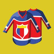 Hockey Sportswear Pullover Stock Illustration