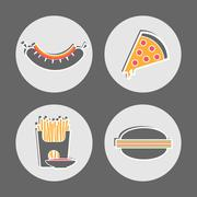 Fast food Restaurant Cafe Menu pictures Piirros