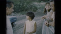 1966: family scene kids father outing children dresses CLARKSDALE, ARIZONA Stock Footage