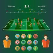 Soccer Game Strategic Planning Stock Illustration