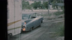 1966: driving the family to the next destination on the journey CLARKSDALE Stock Footage