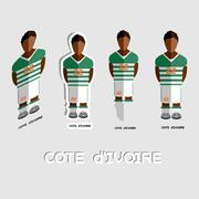 Cote d'Ivoire Soccer Team Sportswear Template Stock Illustration