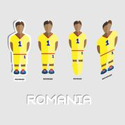 Romania Soccer Team Sportswear Template Stock Illustration