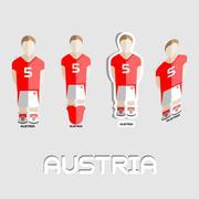 Austria Soccer Team Sportswear Template Stock Illustration