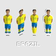 Brazil Soccer Team Sportswear Template Stock Illustration