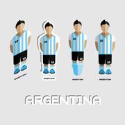 Argentina Soccer Team Sportswear Template Stock Illustration