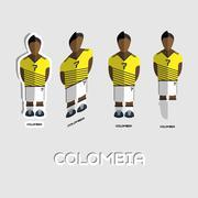 Colombia Soccer Team Sportswear Template Stock Illustration
