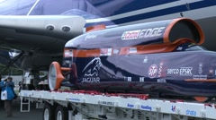 Bloodhound Supersonic Car Pan Stock Footage
