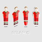Belarus Soccer Team Sportswear Template Stock Illustration