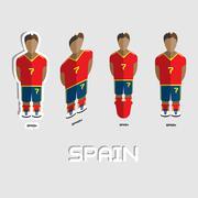 Spain Soccer Team Sportswear Template Stock Illustration