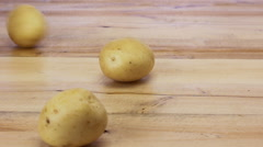 Potato Peeling sweet potato, batata Potato Gratin Recipe Stock Footage
