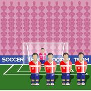 Serbia Soccer Club Penalty on a Stadium Stock Illustration