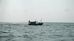 Commercial fishing boat in the Gulf of Thailand. Stock Footage