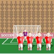 Austria Soccer Club Penalty on a Stadium Stock Illustration
