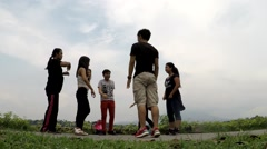 Group Of amateur teen students are taught dancing Stock Footage