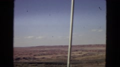 1967: travelling road through desert ARIZONA Stock Footage