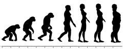 Evolution woman Stock Illustration