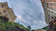 Rabbit Hole Planet 360 Degree Kiev Sights Tourism Cityscape Stock Footage