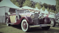 Mercedes-Benz 380K Cabriolet (W22) 1935 classic convertible car Stock Footage
