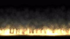4k Fire smoke fume oilfield military war battlefield. Stock Footage