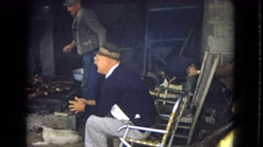 1967: working men dressed business man observing work ARIZONA Stock Footage