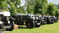 Bentley 1920s vintage classic race cars Stock Footage