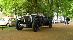 Bentley 4 1/2 Litre 1928 vintage classic car Stock Footage