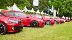 Volkswagen Golf GTI hatchback sports car model history Stock Footage
