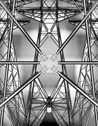 Electricity pylons. Stock Illustration