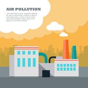 Air Pollution Concept Piirros