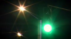 Traffic light is lit in red and green Stock Footage