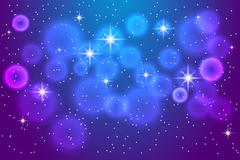 Abstract blue background with shining stars Stock Illustration