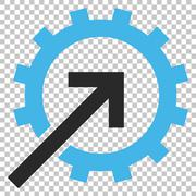 Cog Integration Vector Icon Stock Illustration
