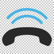 Phone Ring Vector Icon Stock Illustration