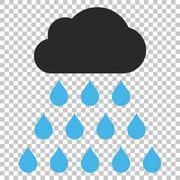 Rain Cloud Vector Icon Stock Illustration