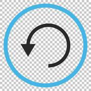 Rotate CCW Vector Icon Stock Illustration
