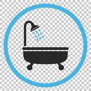 Shower Bath Vector Icon Stock Illustration