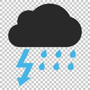 Thunderstorm Vector Icon Stock Illustration