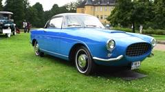 Fiat 1100 TV Boano Giannini 1956 classic coupe car Stock Footage