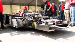 Audi R8 is a Le Mans Prototype sports-prototype race car Stock Footage