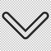 Arrowhead Down Vector Icon Stock Illustration