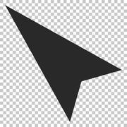 Arrowhead Left-Up Vector Icon Stock Illustration