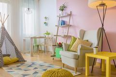 Modern home interior idea Stock Photos