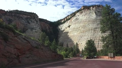 RV and Motorcycle club, Zion National Park Stock Footage
