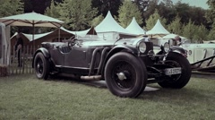 Mercedes-Benz SSK Roadster 1927 classic convertible car Stock Footage