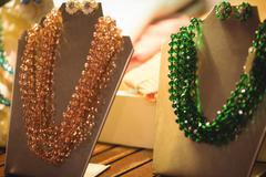 Antique jeweler kept in display Stock Photos