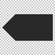Direction Left Vector Icon Stock Illustration